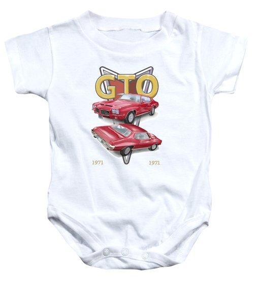 1971 Pontiac Gto Baby Onesie