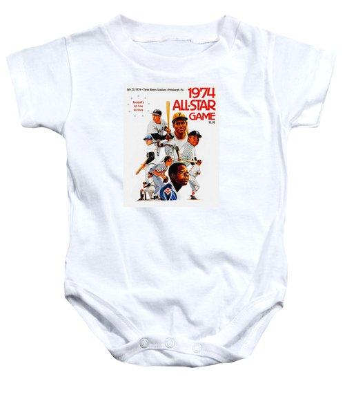1974 Baseball All Star Game Program Baby Onesie