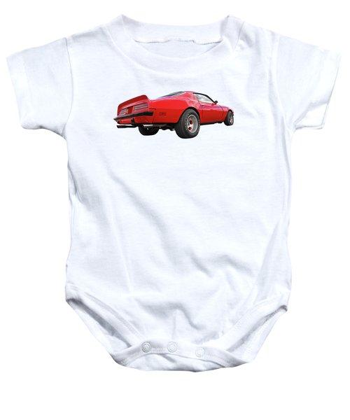 1974 Pontiac Firebird Formula 400 Rear Baby Onesie