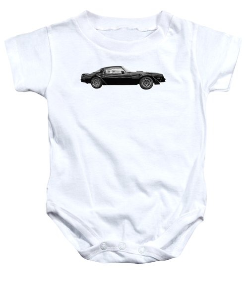 1978 Trans Am In Black And White Baby Onesie