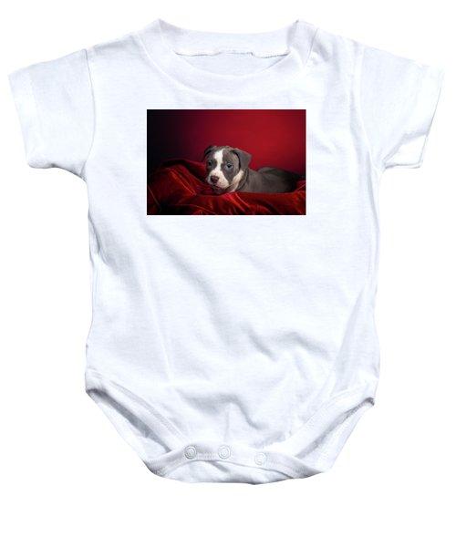 American Pitbull Puppy Baby Onesie