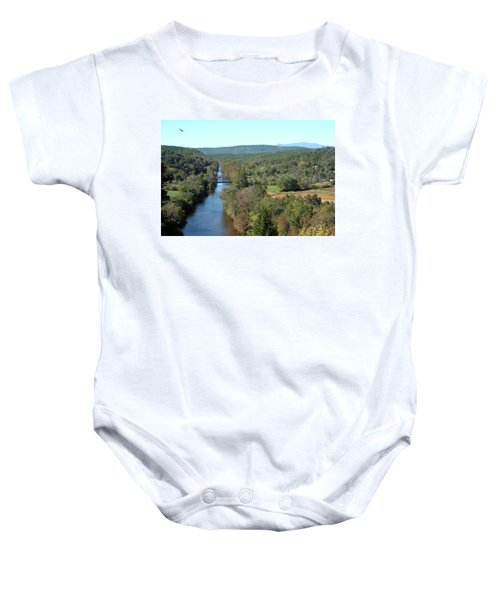 Autumn Landscape With Tye River In Nelson County, Virginia Baby Onesie