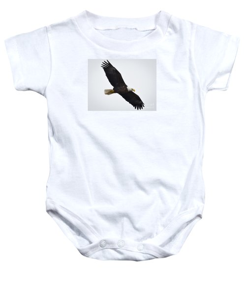 Baby Onesie featuring the photograph Bald Eagle by Ricky L Jones