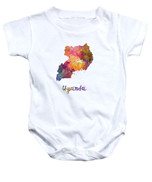 New Hampshire Us State In Watercolor Text Cut Out Baby Onesie
