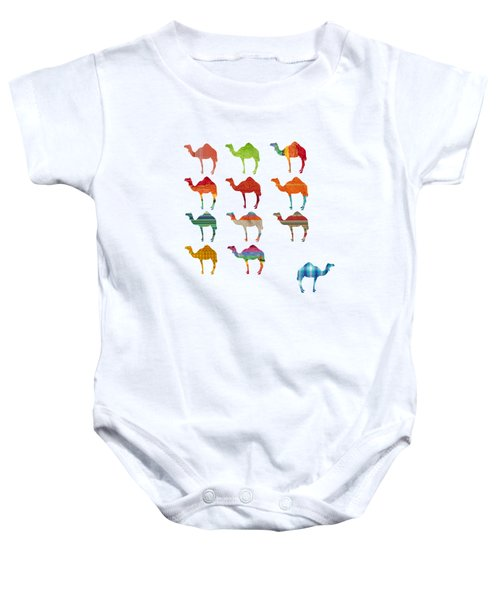 Camels Baby Onesie by Art Spectrum