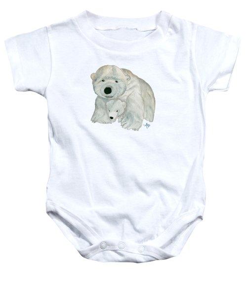 Cuddly Polar Bear Baby Onesie