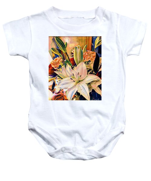 Flowers For You Baby Onesie
