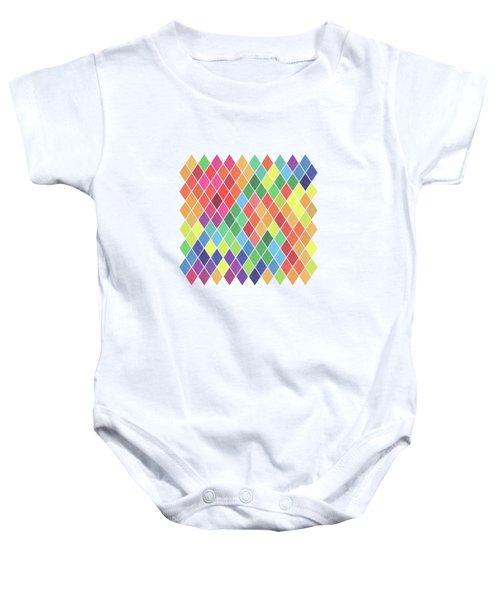 Geometric Background Baby Onesie