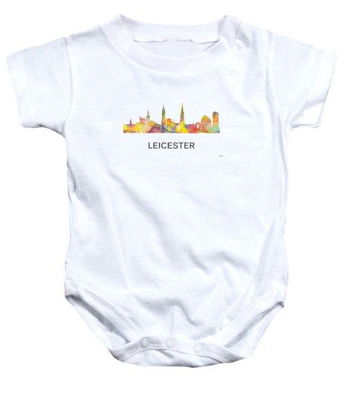 Leicester England Skyline Baby Onesie