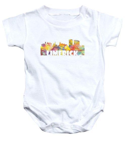 Limerick Ireland Skyline Baby Onesie by Marlene Watson