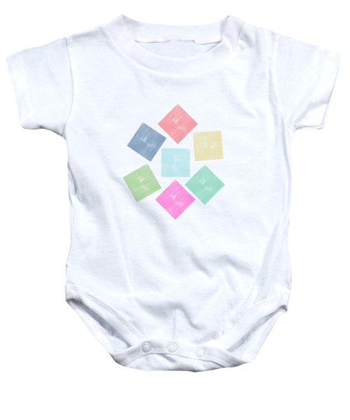 Lovely Geometric Background Baby Onesie