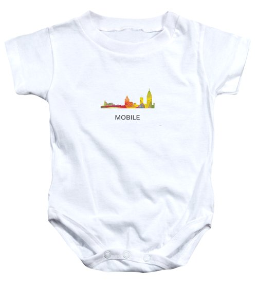 Mobile Alabama Skyline Baby Onesie