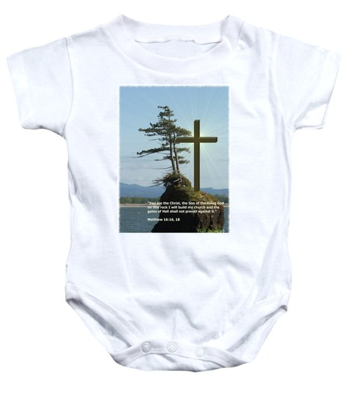On This Rock I Will Build My Church Baby Onesie