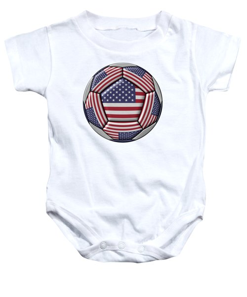 Soccer Ball With United States Flag Baby Onesie