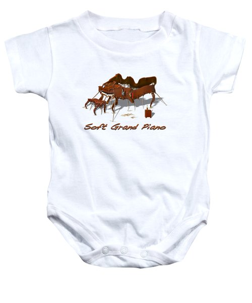 Soft Grand Piano  Baby Onesie by Mike McGlothlen