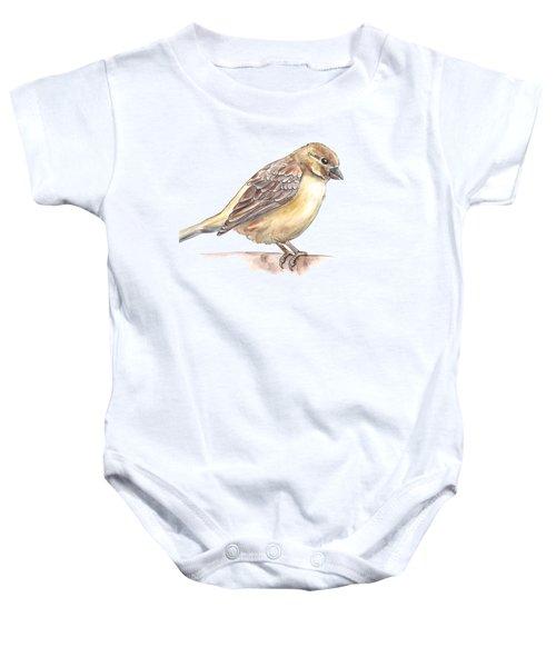 Sparrow Baby Onesie by Katerina Kirilova