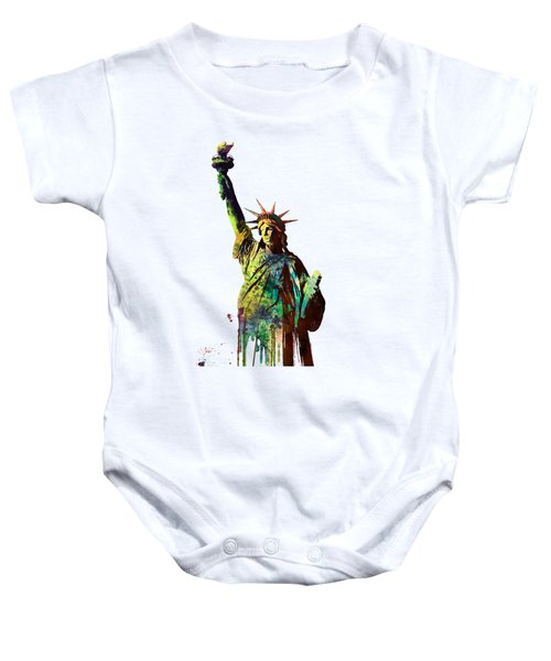 Statue Of Liberty Baby Onesie by Marlene Watson