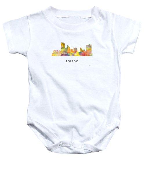 Toledo Ohio Skyline Baby Onesie
