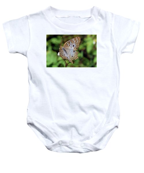 White Peacock Butterfly Baby Onesie