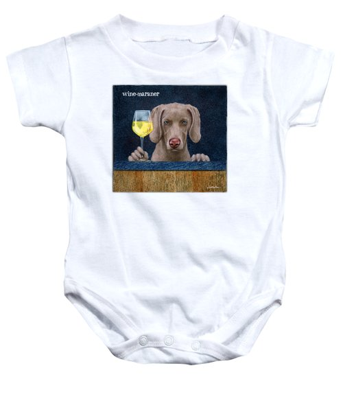 Wine-maraner Baby Onesie by Will Bullas
