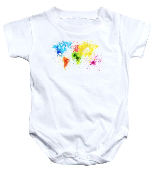 World Map Painting Baby Onesie