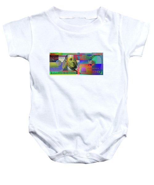 2009 Series Pop Art Colorized U. S. One Hundred Dollar Bill No. 1 Baby Onesie