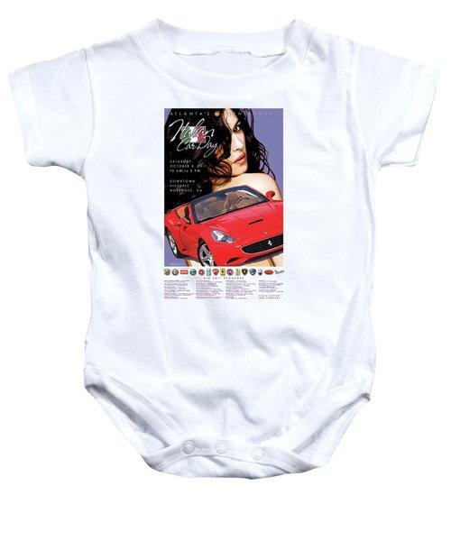 2011 Atlanta Italian Car Day Poster Baby Onesie