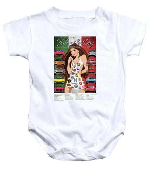 2012 Atlanta Italian Car Day Poster Baby Onesie