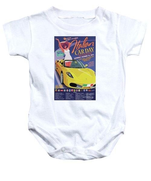 2013 Atlanta Italian Car Day Poster Baby Onesie