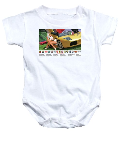 2014 Atlanta Italian Car Day Poster Baby Onesie