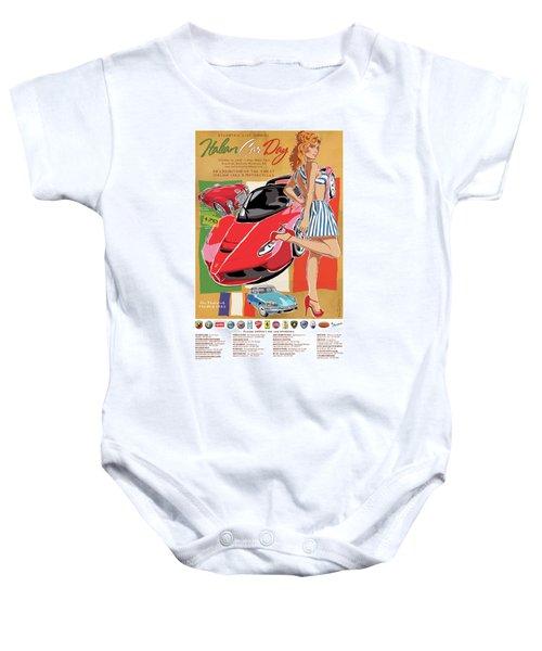 2017 Atlanta Italian Car Day Poster Baby Onesie