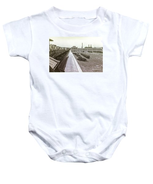 207th Street Subway Yards Baby Onesie