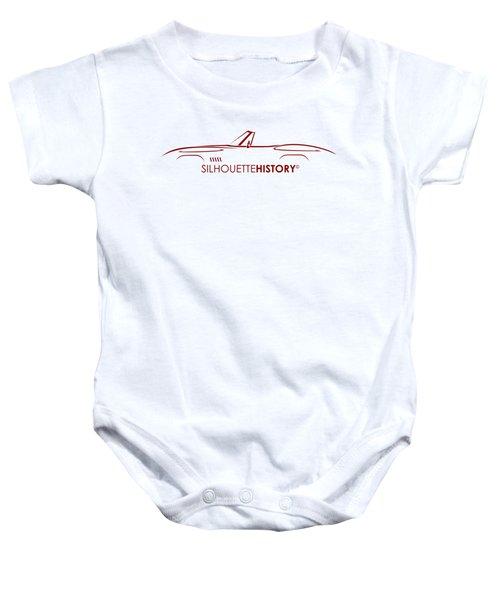 American Sports Cabrio Silhouettehistory Baby Onesie