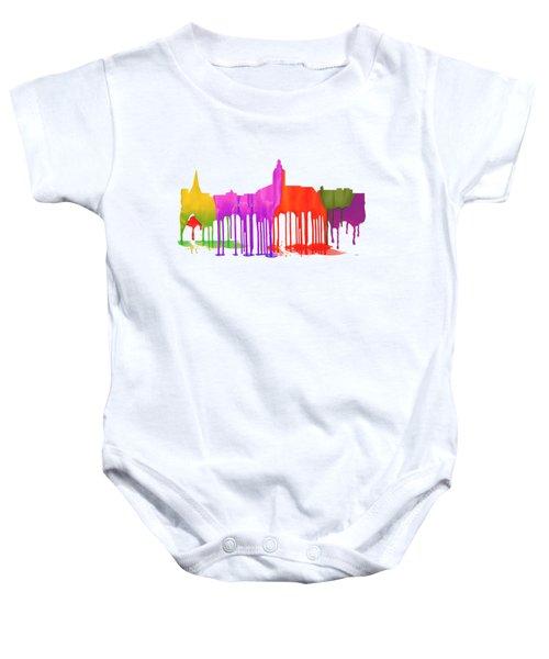 Annapolis Maryland Skyline      Baby Onesie by Marlene Watson