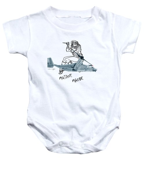 Bell Boeing Cv-22b Osprey Mojave Maude Baby Onesie by Arthur Eggers