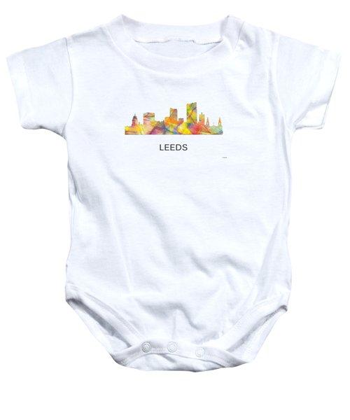 Leeds England Skyline Baby Onesie