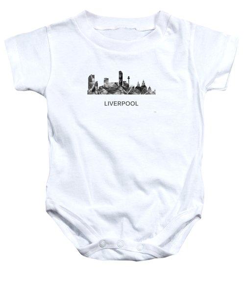 Liverpool England Skyline Baby Onesie
