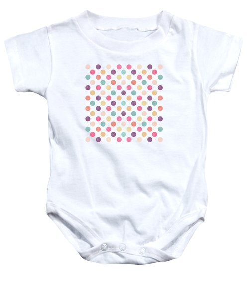 Lovely Polka Dots  Baby Onesie by Amir Faysal