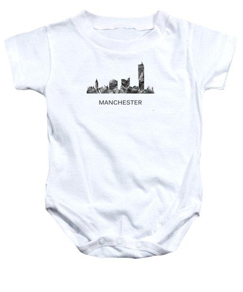 Manchester England Skyline Baby Onesie