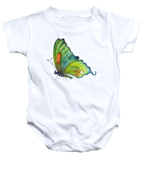 3 Perched Orange Spot Butterfly Baby Onesie