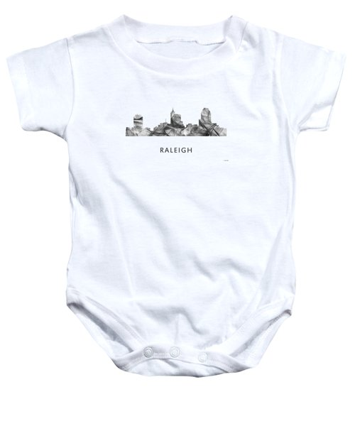 Raleigh North Carolina Skyline Baby Onesie
