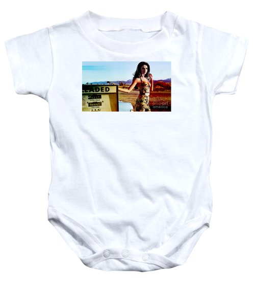 Baby Onesie featuring the digital art Selena Gomez  by Marvin Blaine