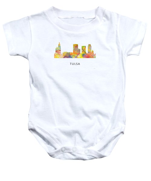 Tulsa Oklahoma Skyline Baby Onesie