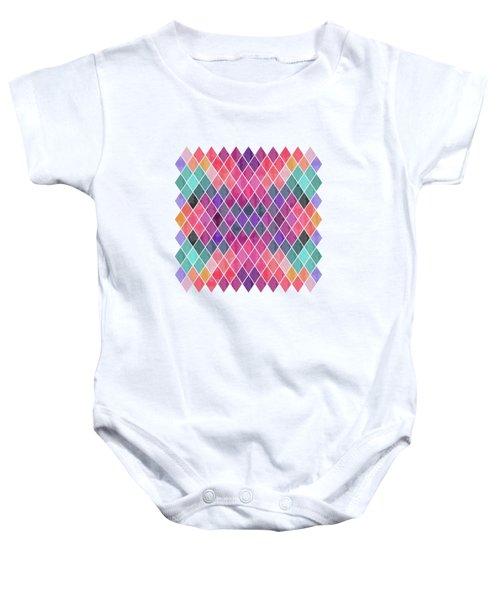 Watercolor Geometric Background Baby Onesie