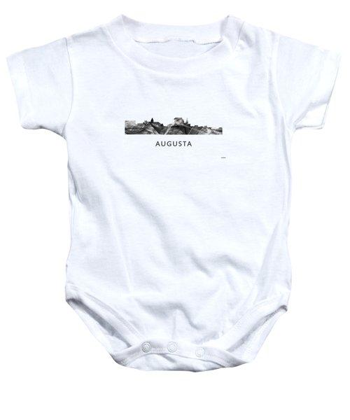 Augusta Maine Skyline Baby Onesie by Marlene Watson