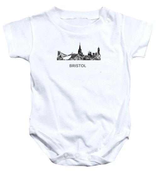 Bristol England Skyline Baby Onesie