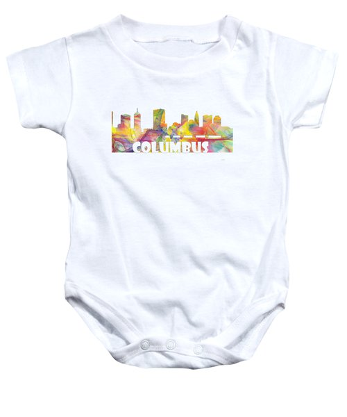 Columbus Ohio Skyline Baby Onesie