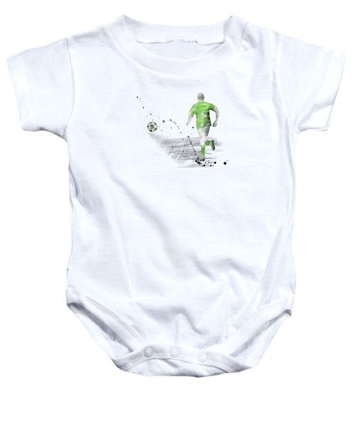 Football Player Baby Onesie by Marlene Watson