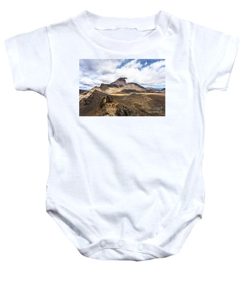 Tongariro Alpine Crossing In New Zealand Baby Onesie
