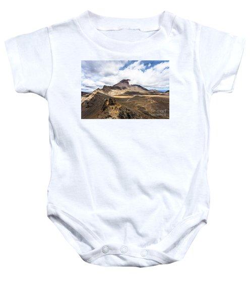Tongariro Alpine Crossing In New Zealand Baby Onesie
